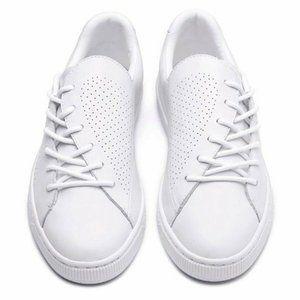 PUMA Basket Crush Leather Shoes Heart 369689-01